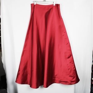 STUNNING! Ralph Lauren Full Maxi Satin Silk Skirt
